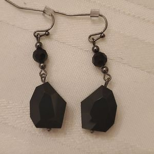 * 5/$20 * lia sophia Black Dangling Earrings
